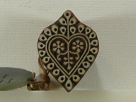 Block Wallah - Patterned Heart Stamp