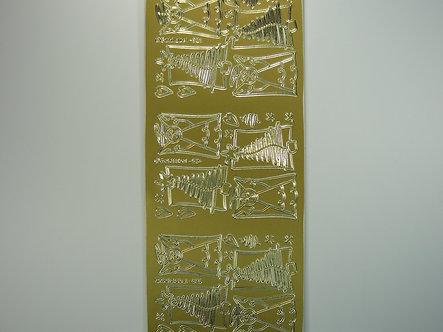 Goldlabel - Christmas Peel Offs - Angels & Trees (Gold)