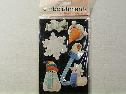 GCS Embellishments - Snowman & Mittens.