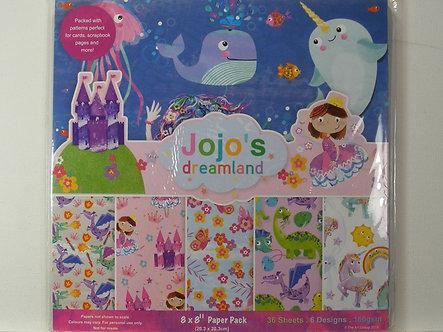 "Jojo's Dreamland 8"" x 8"" Paper Pack"