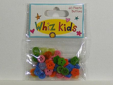 Whiz Kids - Plastic Buttons (60Pk).