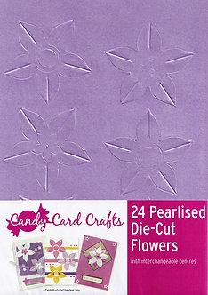 Candy Card Crafts - 24 Pearlised Die-Cut Flowers