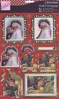 Anitas - Christmas Foiled Decoupage - Joyeux Noel