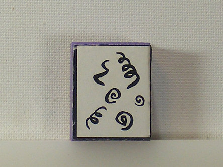 Unbranded - Squiggles Foam Mounted Rubber Stamp