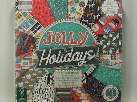 """First Edition - Jolly Holidays 6"""" x 6"""" Paper Pad"""