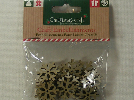Christmas Craft - Snowflake Embellishments.