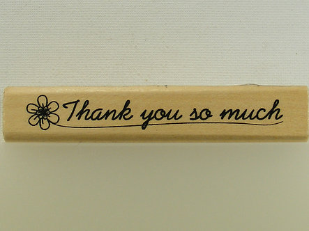Anita's - Thank You So Much Mounted Rubber Stamp