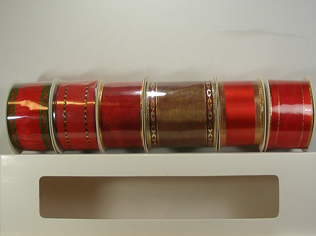 Create & Craft - Luxurious Wired Christmas Ribbon - Red