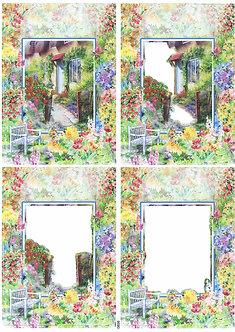 Countryside Decoupage - At The Gate Decoupage Sheet
