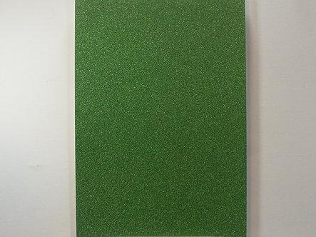 A4 Soft Touch Glitter Card - Green.