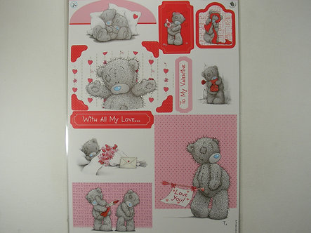 Me To You - A4 Die-Cut Glitter Toppers (Valentines)