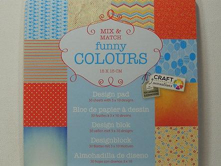 "Craft Sensations - Funny Colours 6"" x 6"" Paper Pad."