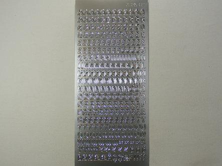 Craftstyle - Silver Upper Case Alphabet Peel Offs