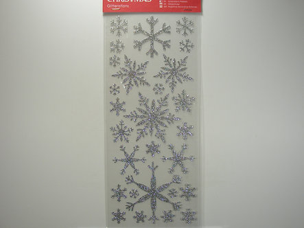 Docrafts - Create Christmas Stickers - Glitteration Snowflake Stickers