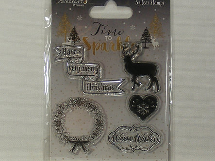 Dovecraft - Time To Sparkle Clear Stamps