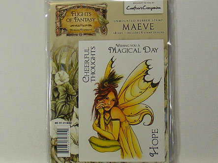 Crafters Companion - Flights Of Fantasy Maeve Rubber Stamp