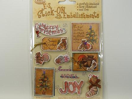 E-Z - Stick On 3D Embellishments - Beary Beary Christmas.