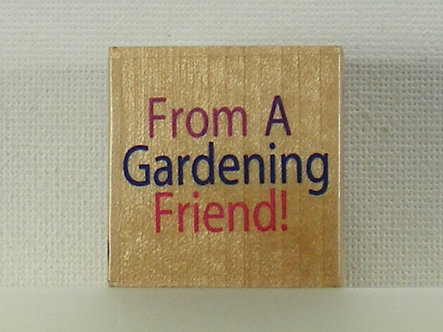 Docrafts - Whispers Rubber Stamp - From A Gardening Friend