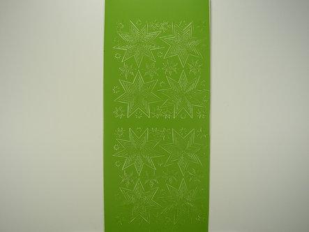 Christmas Peel Offs - Stars (Green)