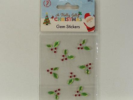 Hobbycraft - Holly Jolly Christmas Holly Gem Stickers.