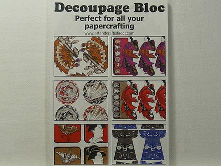 Arts & Crafts Direct - Decoupage Bloc - Oriental.