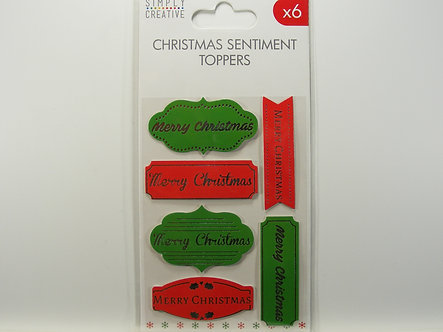 Simply Creative - Christmas Sentiment Toppers