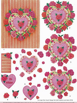 Craft Creations - Hearts & Roses Cake Decoupage