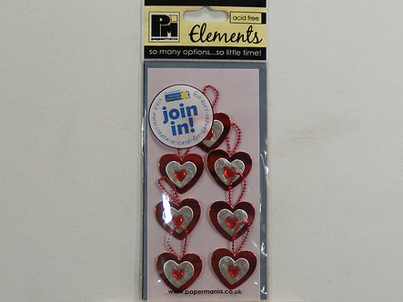 Papermania - Elements - Trio Of Hearts.