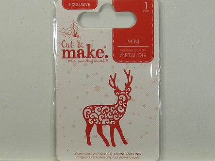 Cut & Make - Filigree Reindeer Mini Die