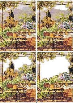 Countryside Decoupage - Afternoon Tea Decoupage Sheet