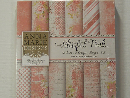 """Anna Marie Designs - Blissful Pink 6"""" x 6"""" Paper Pad."""