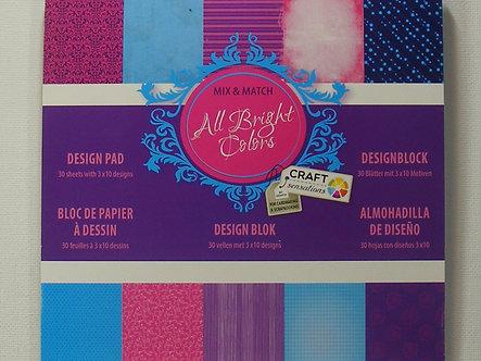 "Craft Sensations - All Bright Colours 6"" x 6"" Paper Pad"