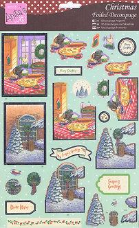 Anita's - Christmas Foiled Decoupage - Christmas Baking.