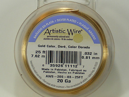 Beadalon - Artistic Wire - 20 Gauge Gold Color