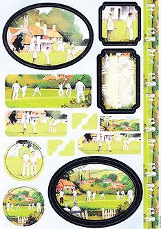 Anita's - Village Cricket Topper Sheet & Background Paper.