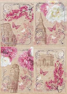 Kanban - Floral Landmarks (Pink)