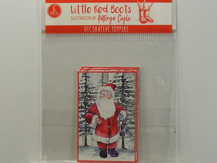 Little Red Boots - Decorative Toppers - Santa Claus.