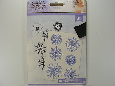 Crafters Companion - Glittering Snowflake Collection - Frosted Layers Acrylic St