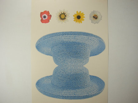 Summer Hat-  A4 Card Base & Flowers