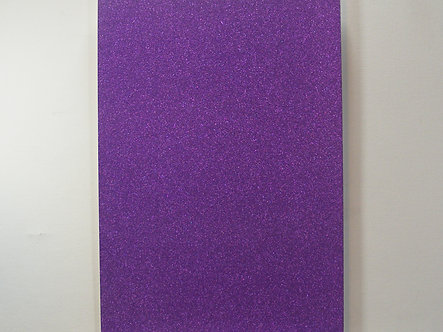 A4 Soft Touch Glitter Card - Purple.