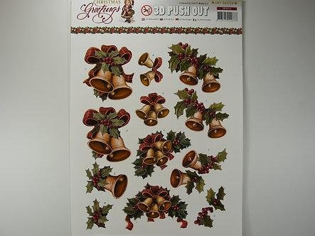 Amy Design - Christmas Greetings 3D Decoupage Sheet