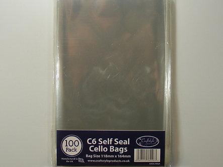 Craftstyle - C6 Self Seal Cello Bags x 100