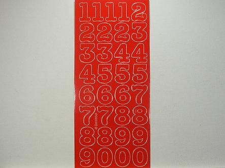 Goldlabel - Number Peel Offs (Red)