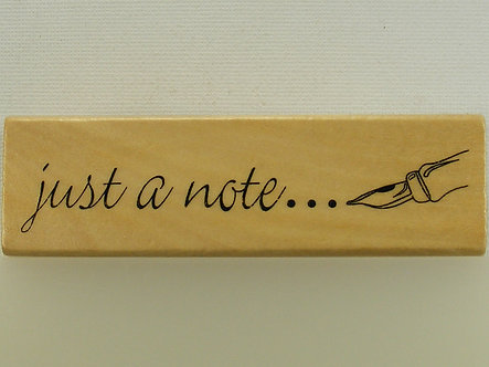 Anita's - Just A Note Mounted Rubber Stamp