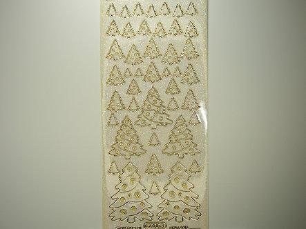 Starform - Christmas Glitter Peel Offs - Christmas Trees (Gold)