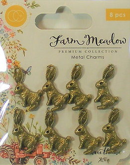 Craft Consortium - Farm Meadow Metal Rabbit Charms