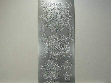 Handmade By - Peel Offs Silver Ornate Scrolls
