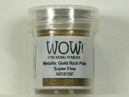WOW! - Metallic Gold Rich Pale Super Fine Embossing Powder