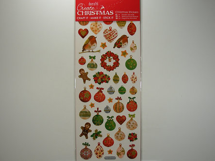 Docrafts - Create Christmas Stickers - Lustre Baubles.