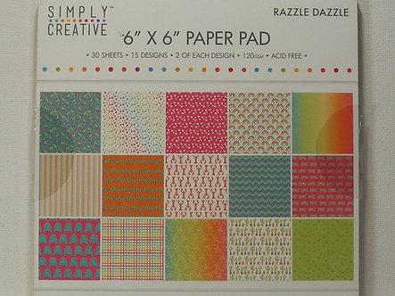 "Simply Creative - Razzle Dazzle 6"" x 6"" Paper Pad"